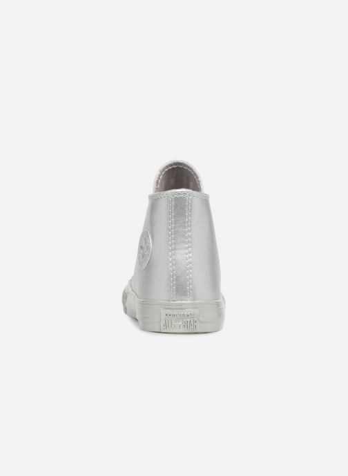 Trainers Converse CTAS HI Silver view from the right