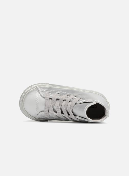 Trainers Converse CTAS HI Silver view from the left