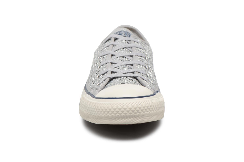 Baskets Converse CTAS OX PURE Argent vue portées chaussures