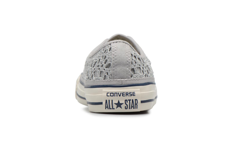Baskets Converse CTAS OX PURE Argent vue droite