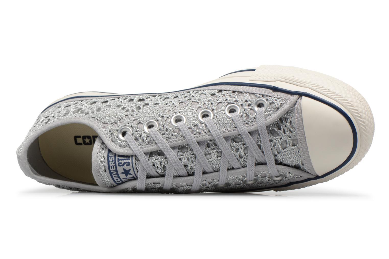 Baskets Converse CTAS OX PURE Argent vue gauche