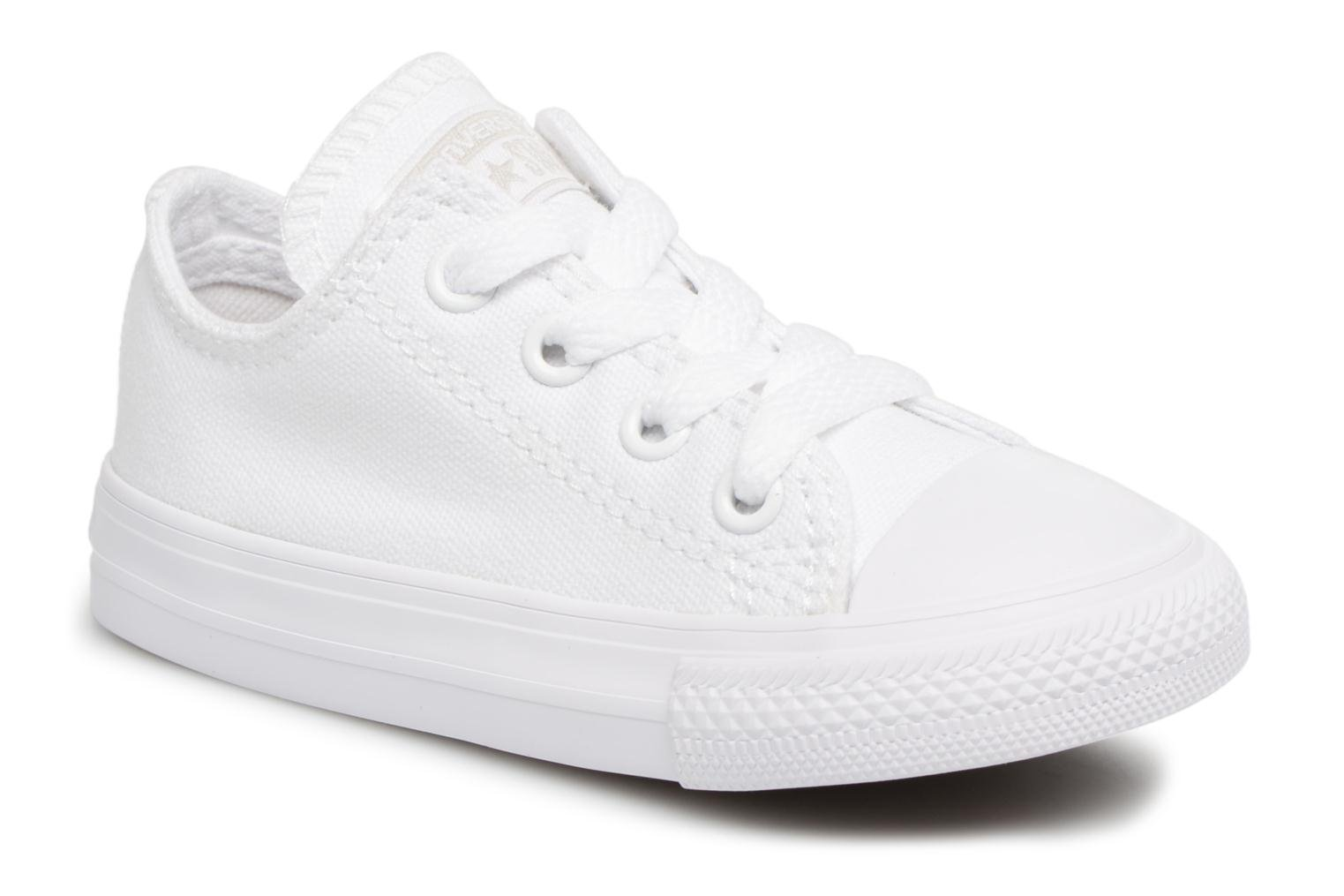 Baskets Converse CT AS OX WHITE MONOCHROME Blanc vue détail/paire