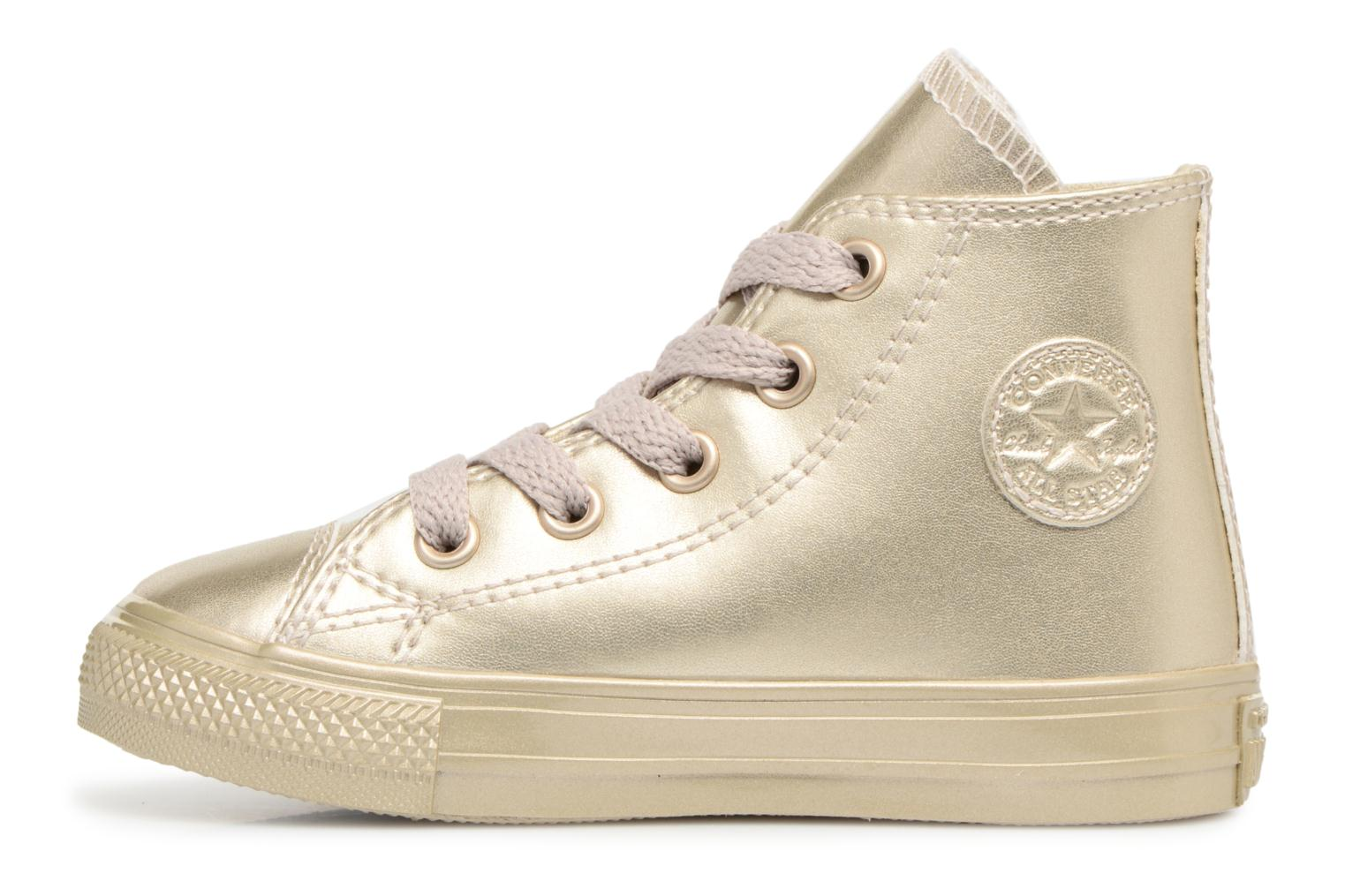 Baskets Converse CTAS HI LIGHT Or et bronze vue face