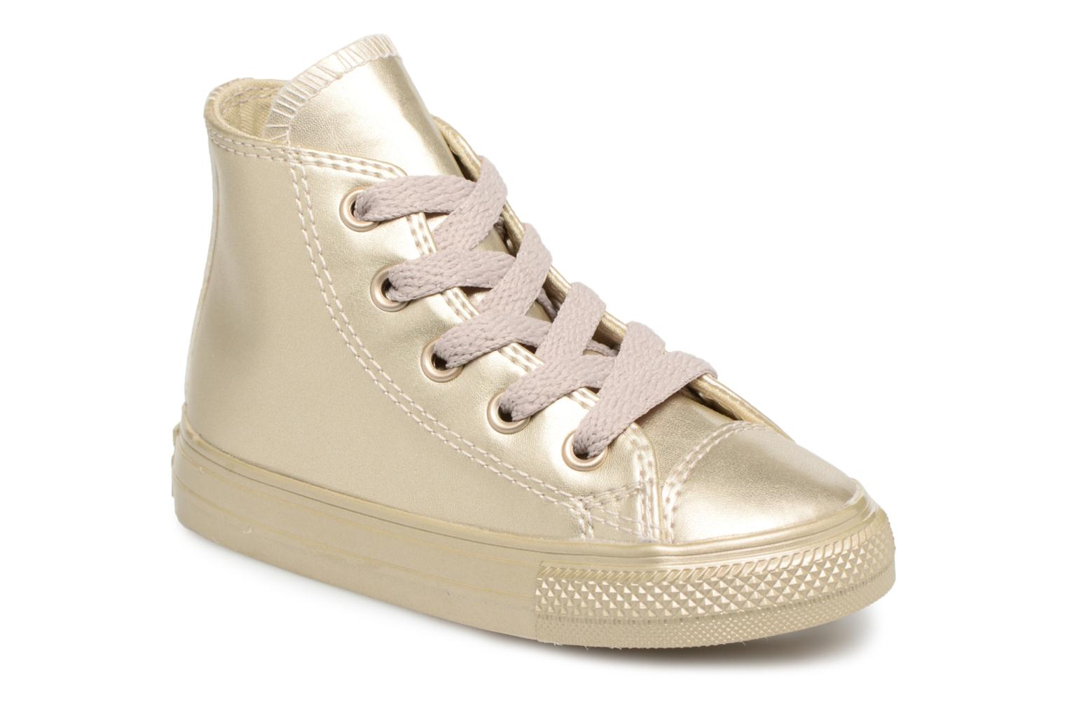 Baskets Converse CTAS HI LIGHT Or et bronze vue détail/paire