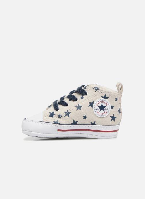 Sneakers Converse CTAS FIRST STAR HI VAPOROUS GRAY Hvid se forfra