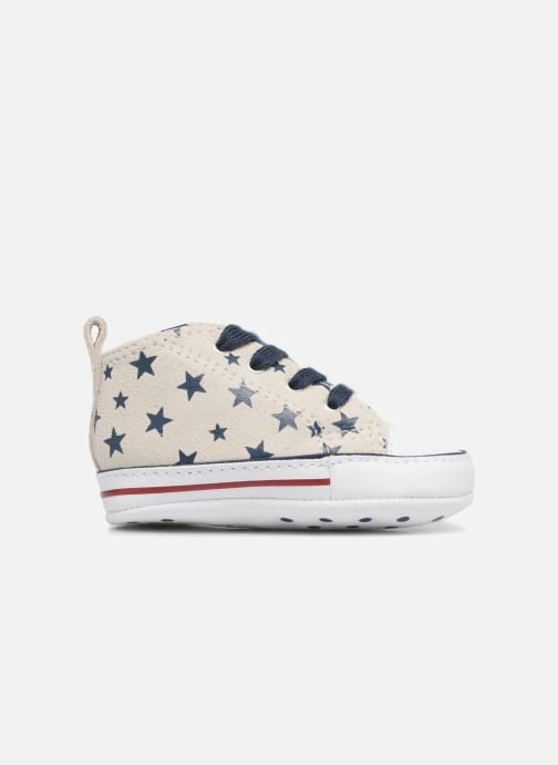 Trainers Converse CTAS FIRST STAR HI VAPOROUS GRAY White back view