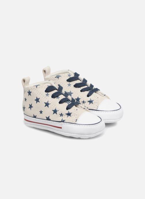 Sneakers Converse CTAS FIRST STAR HI VAPOROUS GRAY Hvid detaljeret billede af skoene