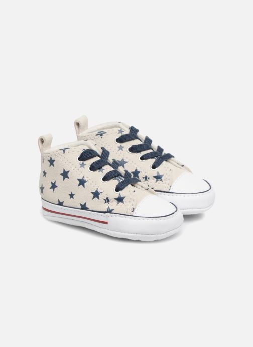 Trainers Converse CTAS FIRST STAR HI VAPOROUS GRAY White detailed view/ Pair view