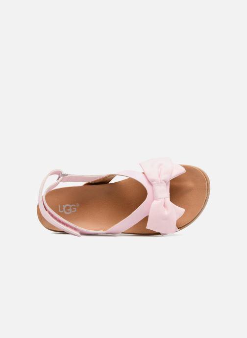 Sandales et nu-pieds UGG Fonda Rose vue gauche
