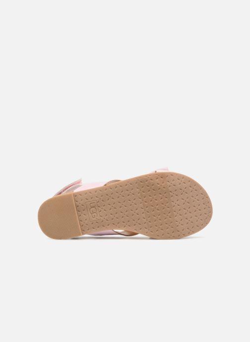 Sandales et nu-pieds UGG Fonda Rose vue haut