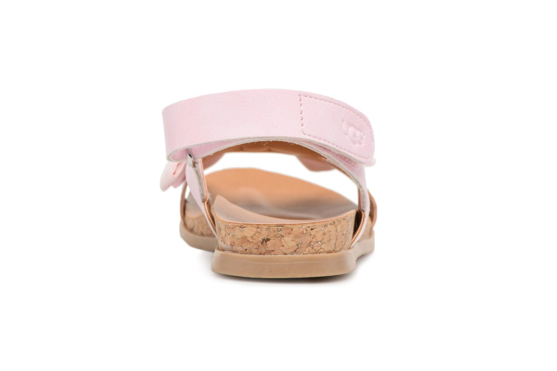 Sandales et nu-pieds UGG Fonda Rose vue droite