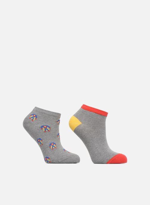 Chaussettes et collants Sarenza Wear Chaussettes Invisibles Garçon Robot Pack de 2 coton Multicolore vue détail/paire