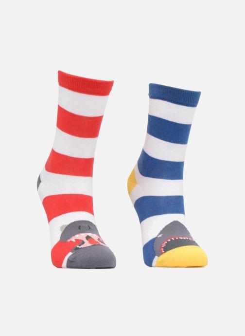 Chaussettes et collants Sarenza Wear Chaussettes Hautes Garçon Animaux Pack de 2 coton Multicolore vue détail/paire