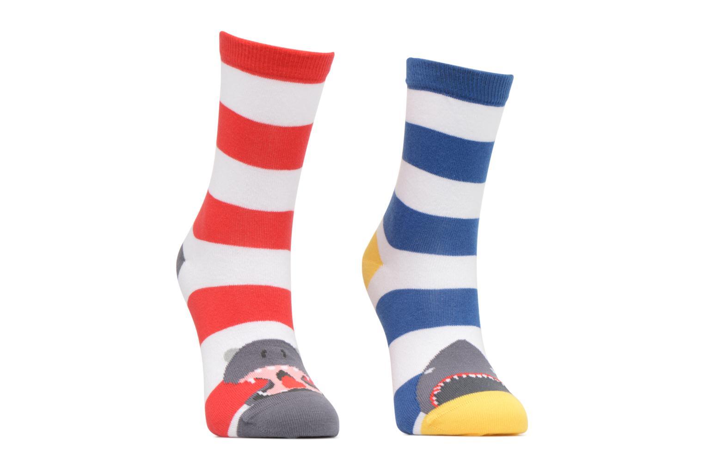 Sarenza wear chaussettes hautes garçon animaux pack de 2 coton