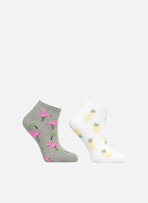 Chaussettes et collants Sarenza Wear Chaussettes Fille Invisibles Ananas & Flamants Rose Multicolore vue détail/paire