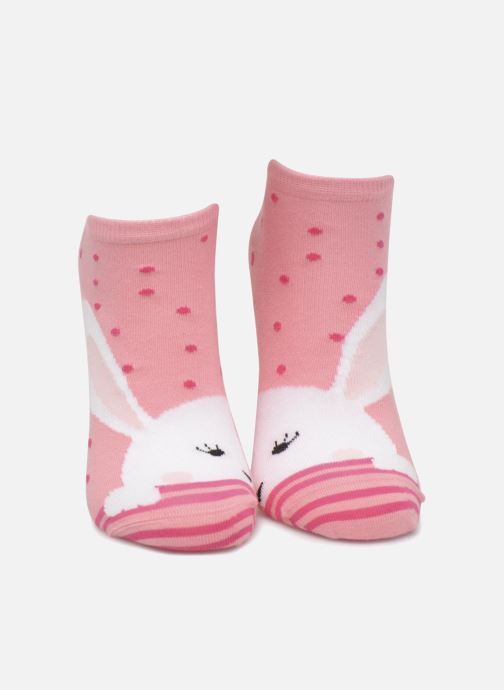 Chaussettes et collants Sarenza Wear Chaussettes Invisibles Fille Lapin Pack de 2 coton Rose vue portées chaussures