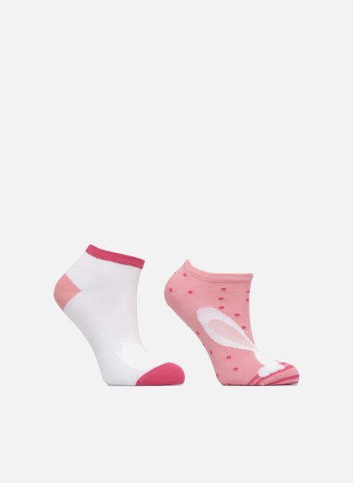 Chaussettes et collants Sarenza Wear Chaussettes Invisibles Fille Lapin Pack de 2 coton Rose vue détail/paire