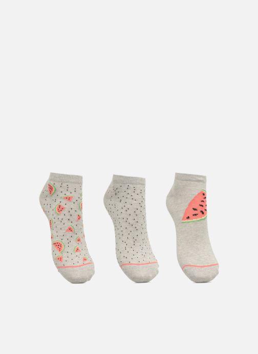 Socken & Strumpfhosen Sarenza Wear Chaussettes Invisibles Femme Pasteque Pack de 3 coton grau detaillierte ansicht/modell