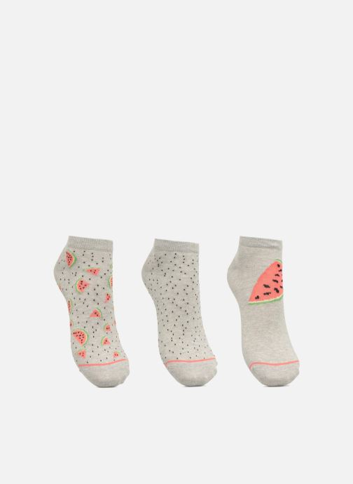 Chaussettes et collants Sarenza Wear Chaussettes Invisibles Femme Pasteque Pack de 3 coton Gris vue détail/paire