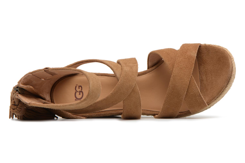 Sandales et nu-pieds UGG Raquel Beige vue gauche