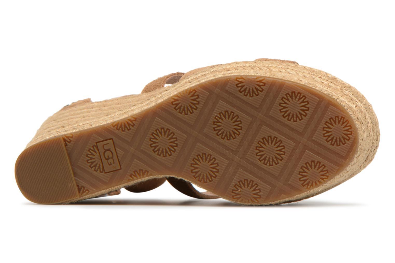Sandales et nu-pieds UGG Raquel Beige vue haut