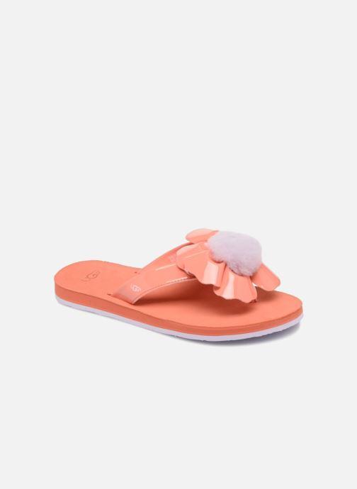 Flip flops UGG Poppy F Orange detailed view/ Pair view