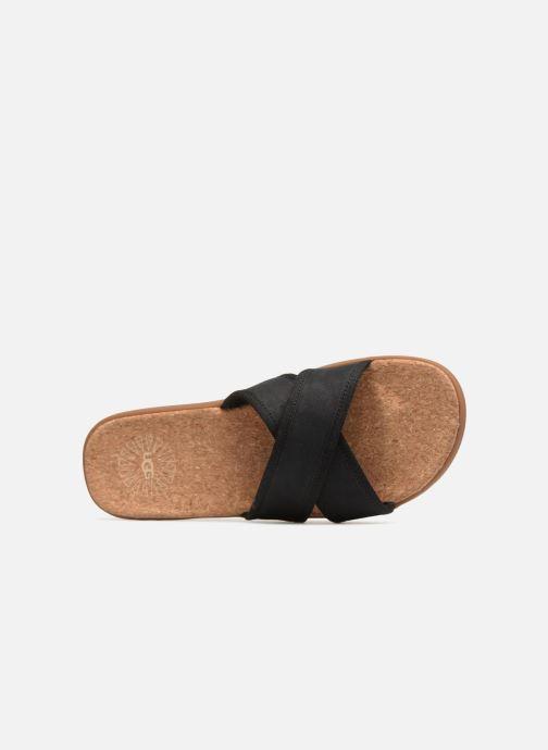 Sandales et nu-pieds UGG Seaside Slide Noir vue gauche