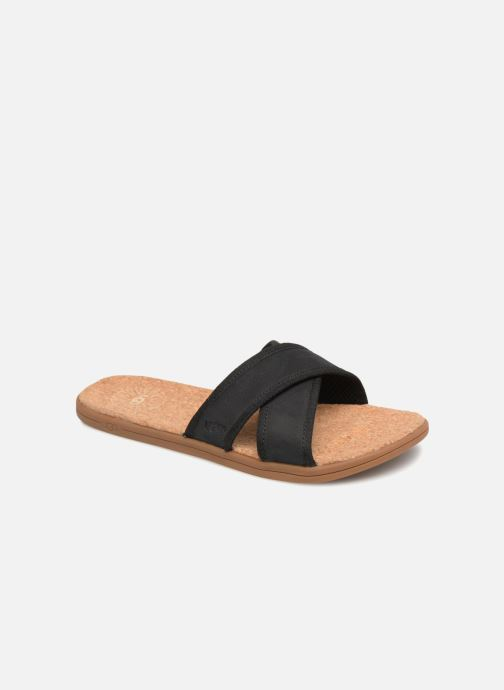 Sandalias UGG Seaside Slide Negro vista de detalle / par