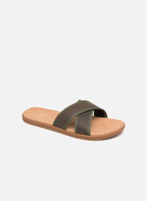 Sandalen UGG Seaside Slide Bruin detail