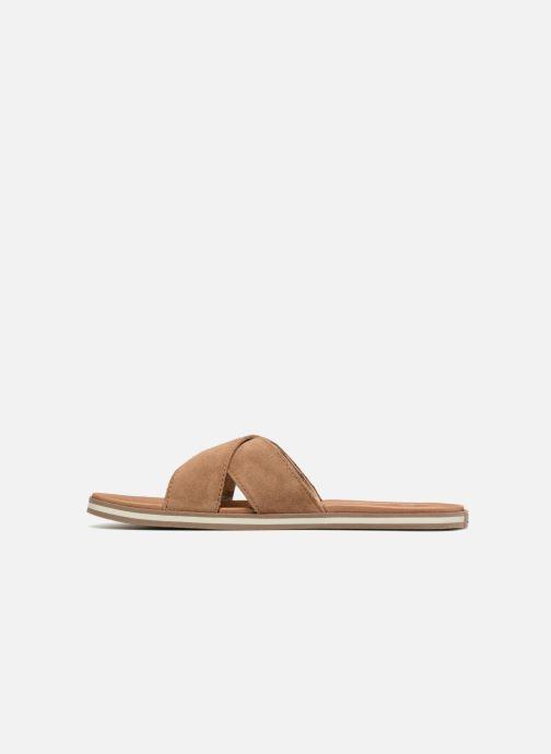 Sandales et nu-pieds UGG Beach Slide Marron vue face
