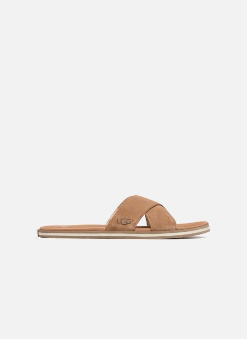 Sandales et nu-pieds UGG Beach Slide Marron vue derrière