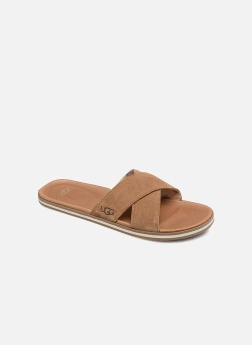 Sandales et nu-pieds UGG Beach Slide Marron vue détail/paire
