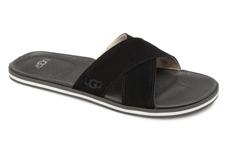 Sandales et nu-pieds UGG Beach Slide Noir vue détail/paire