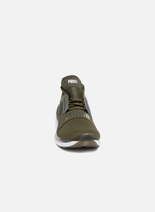 Baskets Puma IGNITE Limitless Weave Vert vue portées chaussures
