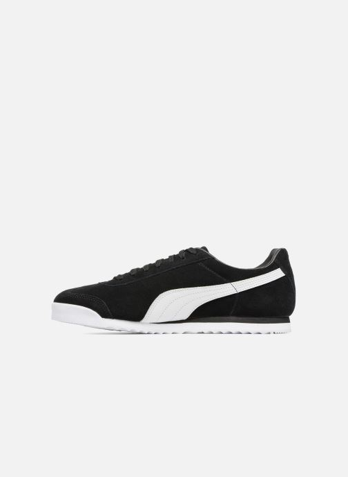 Sneakers Puma Roma Suede Sort se forfra