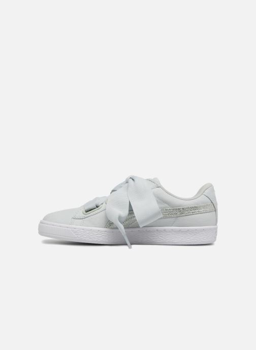 Trainers Puma Basket Heart Canvas Wn's Blue front view