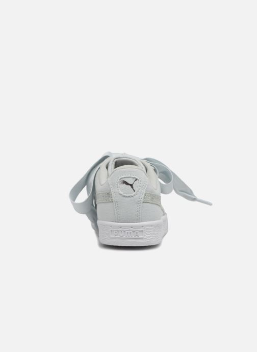 Trainers Puma Basket Heart Canvas Wn's Blue view from the right