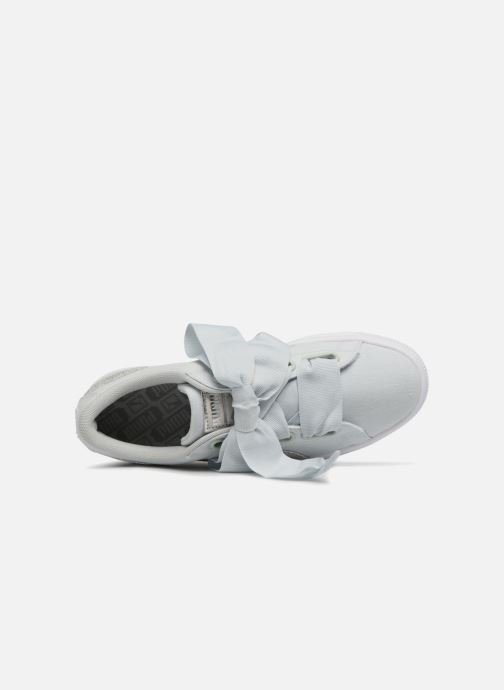 Trainers Puma Basket Heart Canvas Wn's Blue view from the left