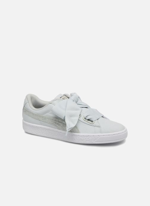 Trainers Puma Basket Heart Canvas Wn's Blue detailed view/ Pair view