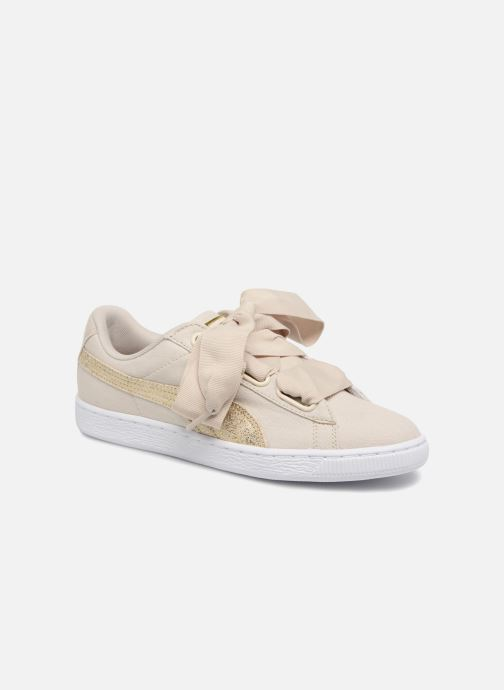 Deportivas Puma Basket Heart Canvas Wn's Blanco vista 3/4