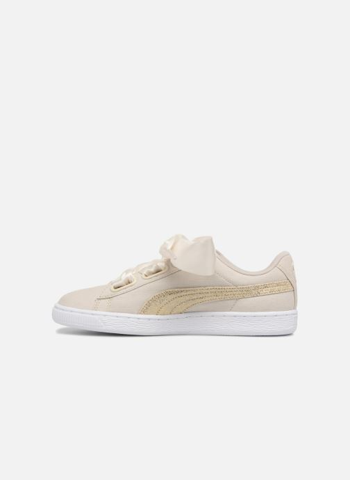 Deportivas Puma Basket Heart Canvas Wn's Blanco vista de frente
