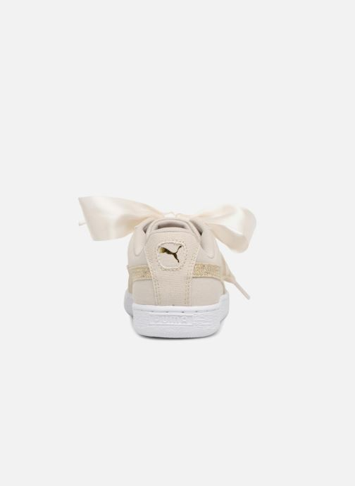 Deportivas Puma Basket Heart Canvas Wn's Blanco vista lateral derecha