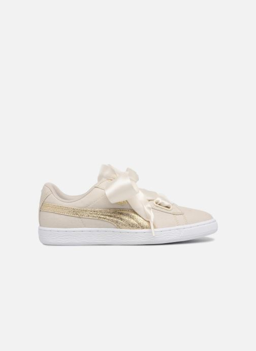 Baskets Puma Basket Heart Canvas Wn's Blanc vue derrière