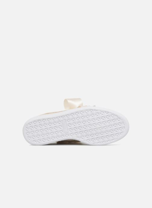 Baskets Puma Basket Heart Canvas Wn's Blanc vue haut