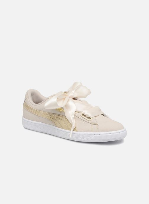 Baskets Puma Basket Heart Canvas Wn's Blanc vue détail/paire
