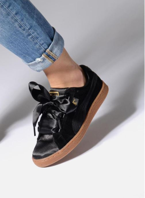 Sneakers Puma Suede Heart VS Wn's Nero immagine dal basso
