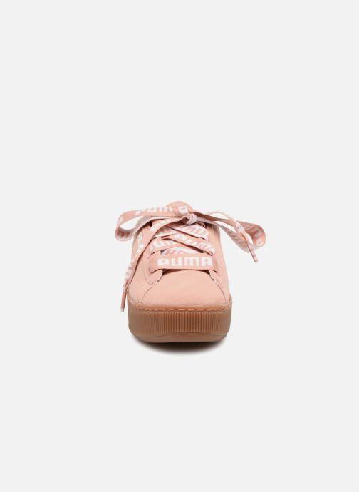 Baskets Puma Puma Vikky Platform Ribbon Bold Rose vue portées chaussures