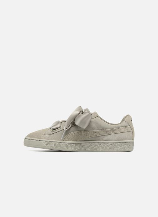 Baskets Puma Suede Heart Pebble Wn's Gris vue face
