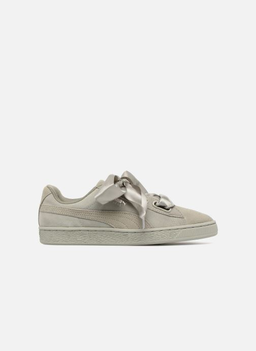 Baskets Puma Suede Heart Pebble Wn's Gris vue derrière