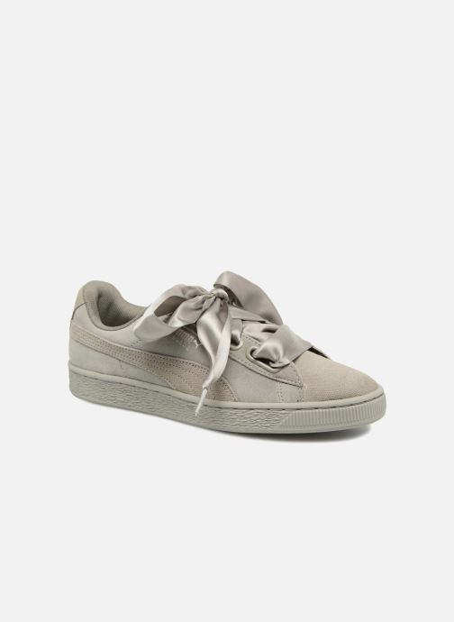Baskets Puma Suede Heart Pebble Wn's Gris vue détail/paire